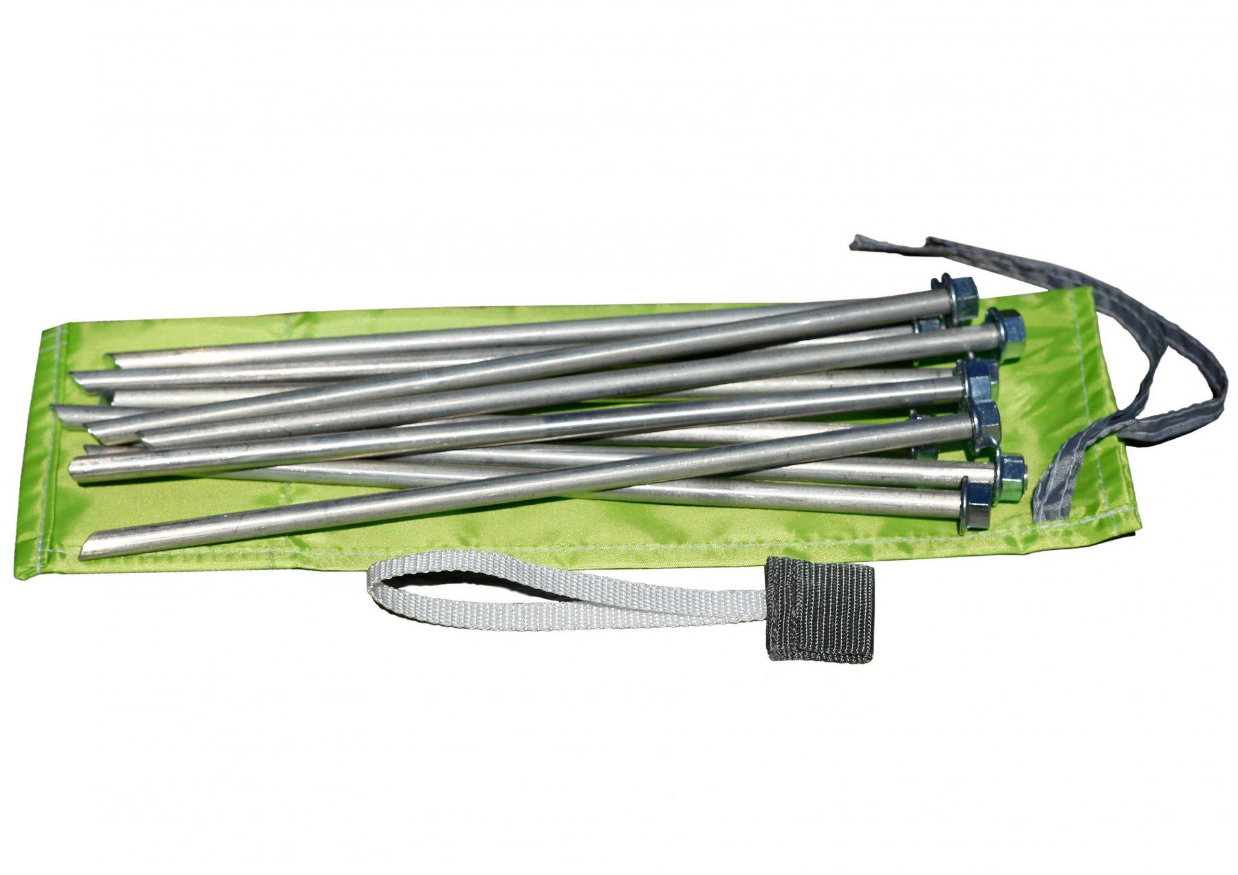 Колышки для палатки штормовые (алюминиевый сплав 9,0 х 300 мм, комплект 10 шт) 01015