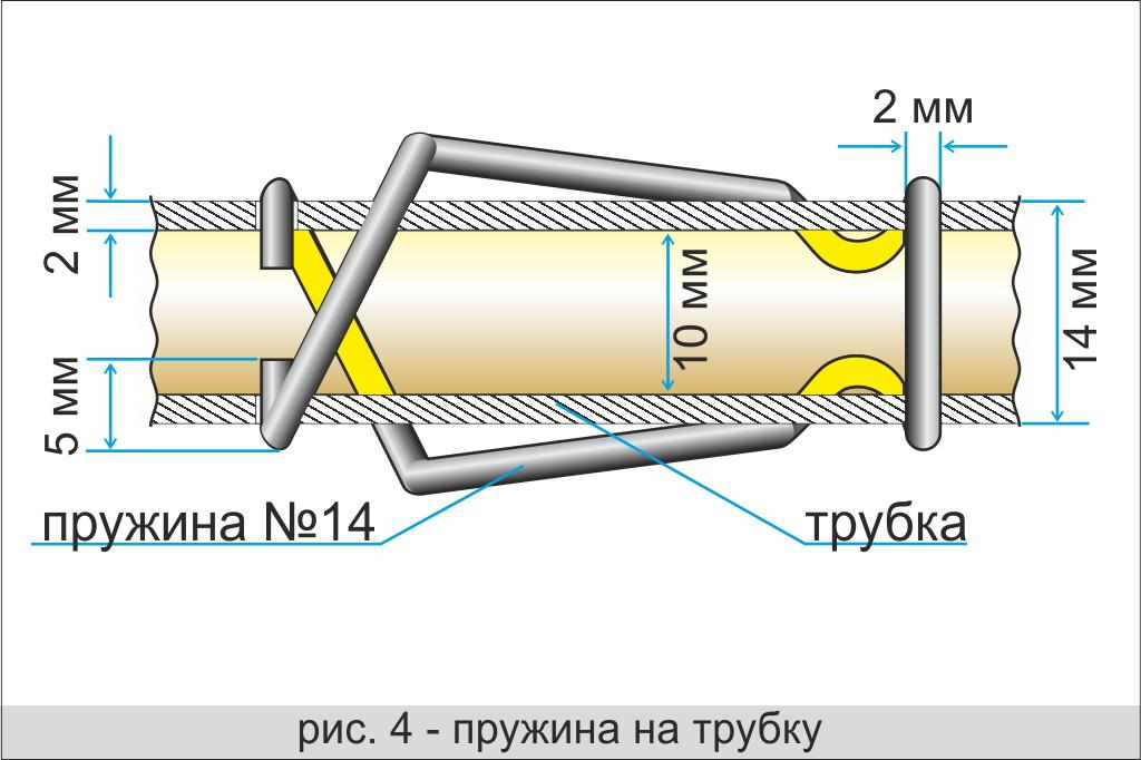 Пружина на трубку для телескопической дуги ЛОТОС Куб М2