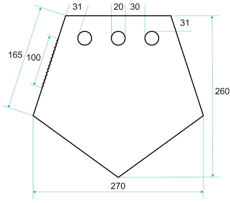 схема пол для зимней рыбалки ЛОТОС 3 ПУ4000 с отверстиями под лунки