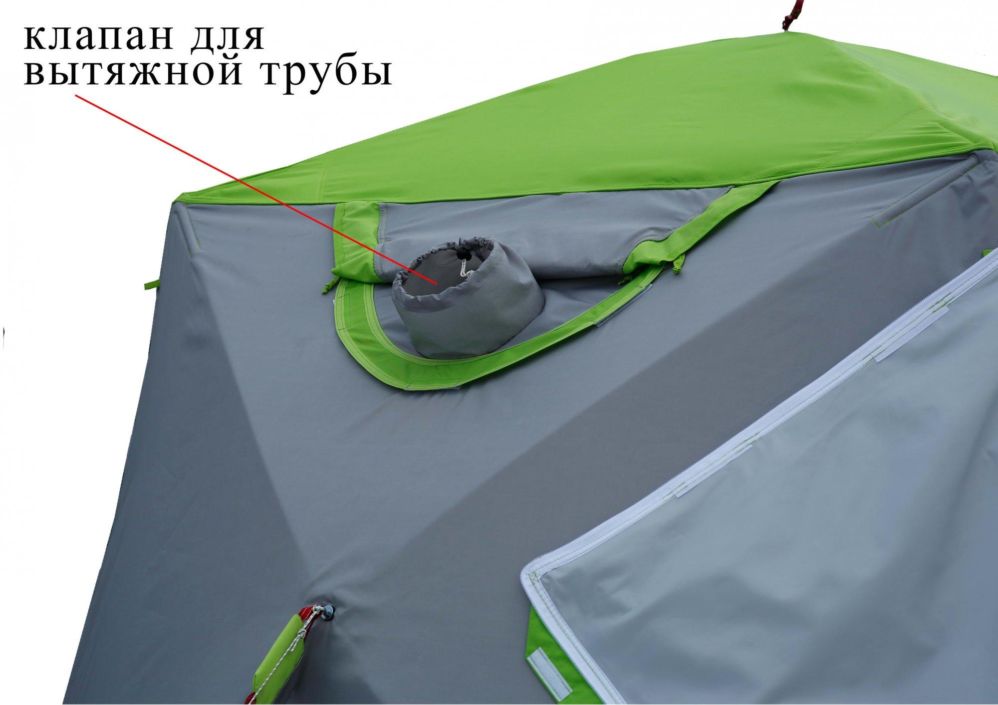 Зимняя палатка ЛОТОС Куб М2 Термо_клапан для вытяжной трубы теплообменника