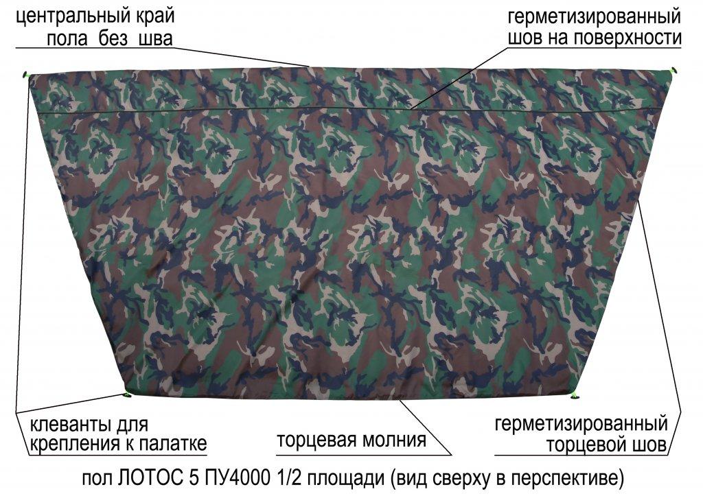 пол утепленный ЛОТОС 5 ПУ4000 (1/2 площади) элементы