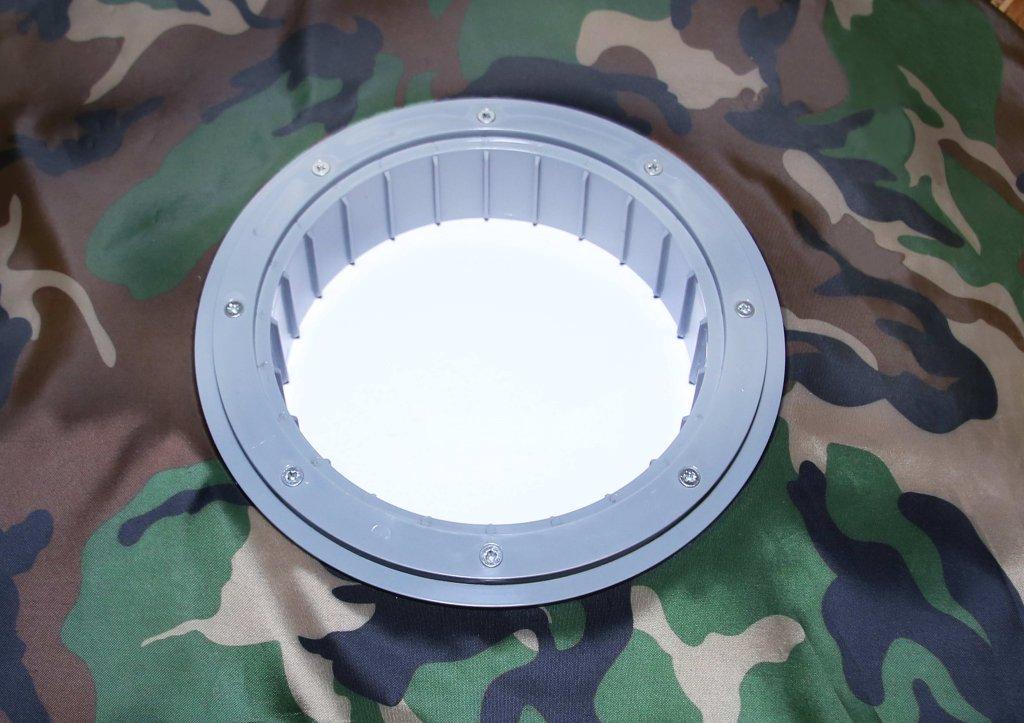 фланец для отверстия под лунку ЛОТОС 200 (вид снизу)