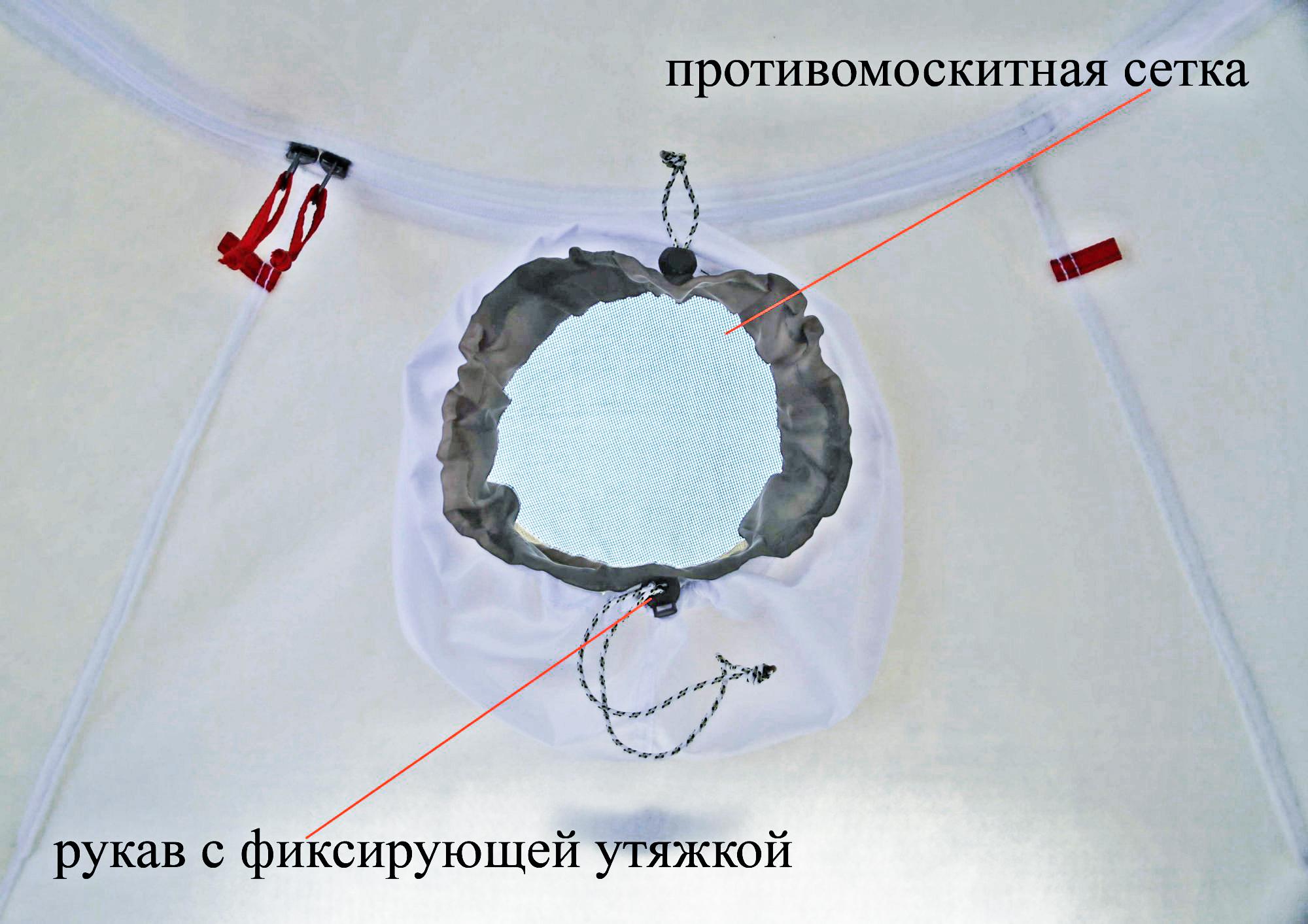 Внутренний тент-капсула утепленный ЛОТОС 5У (вытяжной клапан)