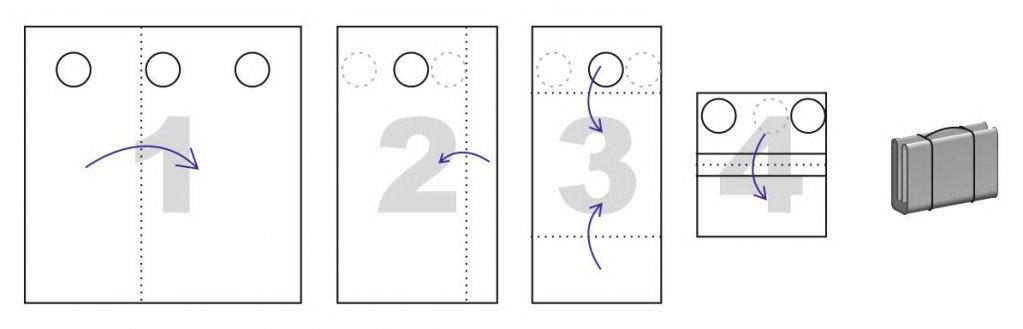 Схема сложения для пола ЛОТОС Куб 201х210 ПУ4000 с отверстиями под лунки