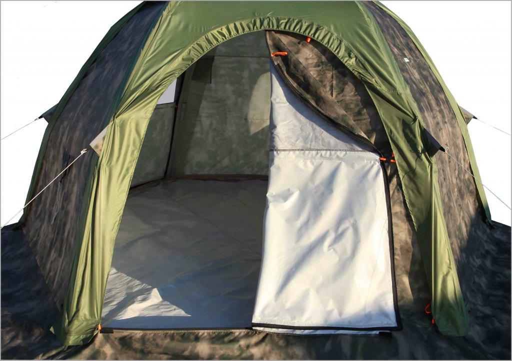 Универсальная модульная палатка ЛОТОС 5 Универсал (кмф) Д-образная дверь