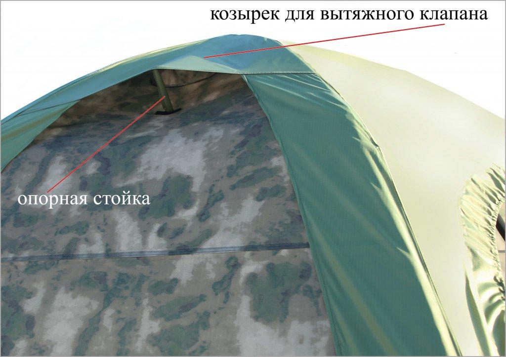 Универсальная модульная палатка ЛОТОС 5 Универсал (кмф) клапан