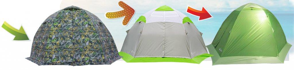 Палатка-траснформер. Универсальная палатка.