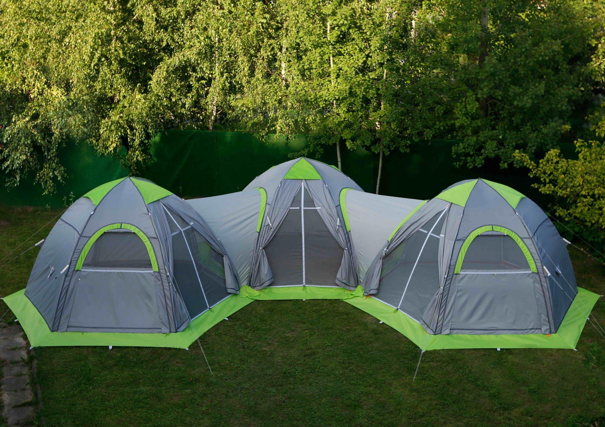 Комплекс из трех модульных универсальных палаток ЛОТОС 5 Универсал Спорт