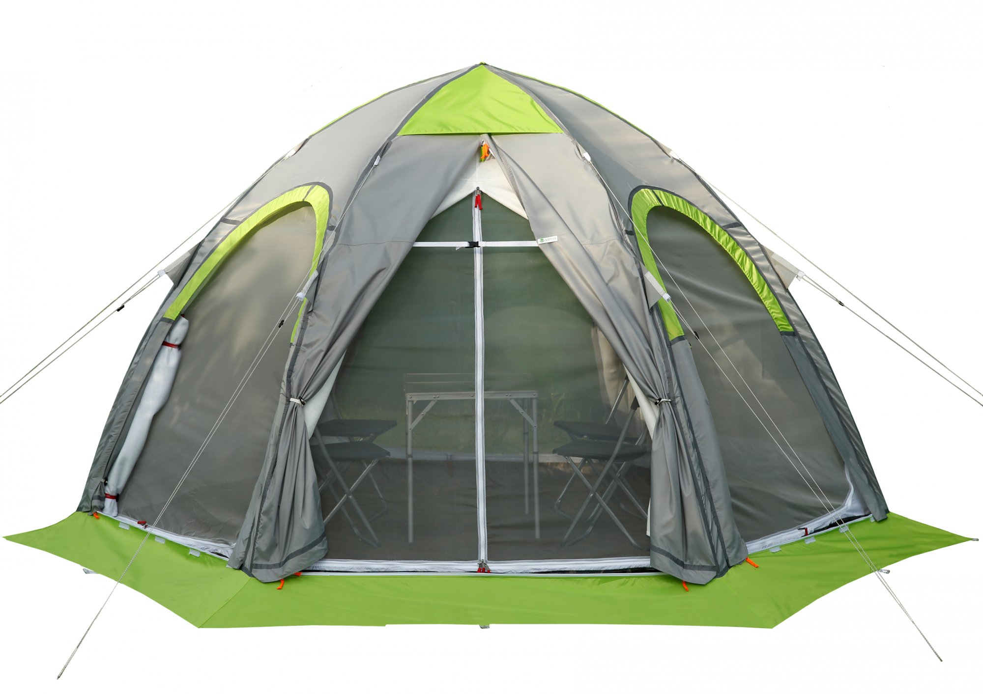 Двухслойная туристическая палатка ЛОТОС 5 Универсал Спорт с теплым тентом-капсулой