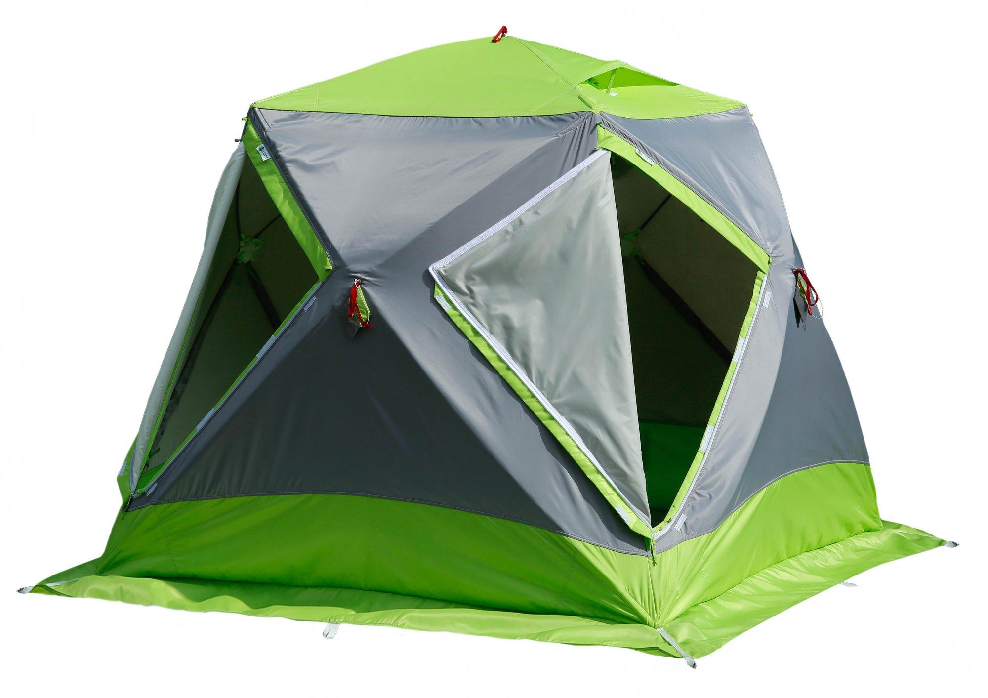 Трехслойная утепленная зимняя палатка ЛОТОС Куб М2 Термо с системой компактного сложения
