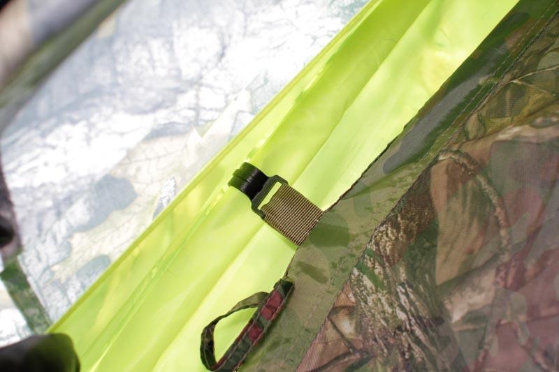 Крепление внутреннего тента палатки