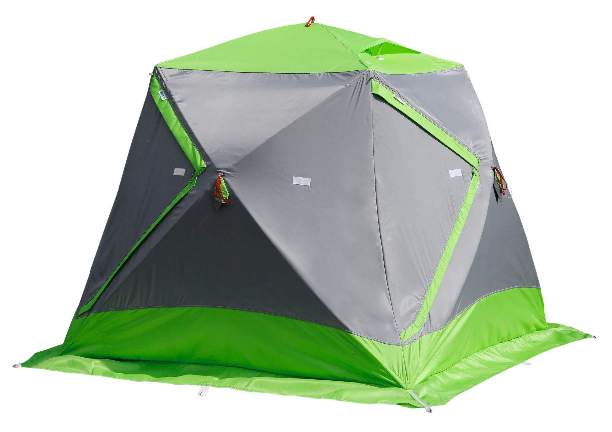 Утепленная зимняя палатка ЛОТОС Куб М2 Термо с системой компактного сложения
