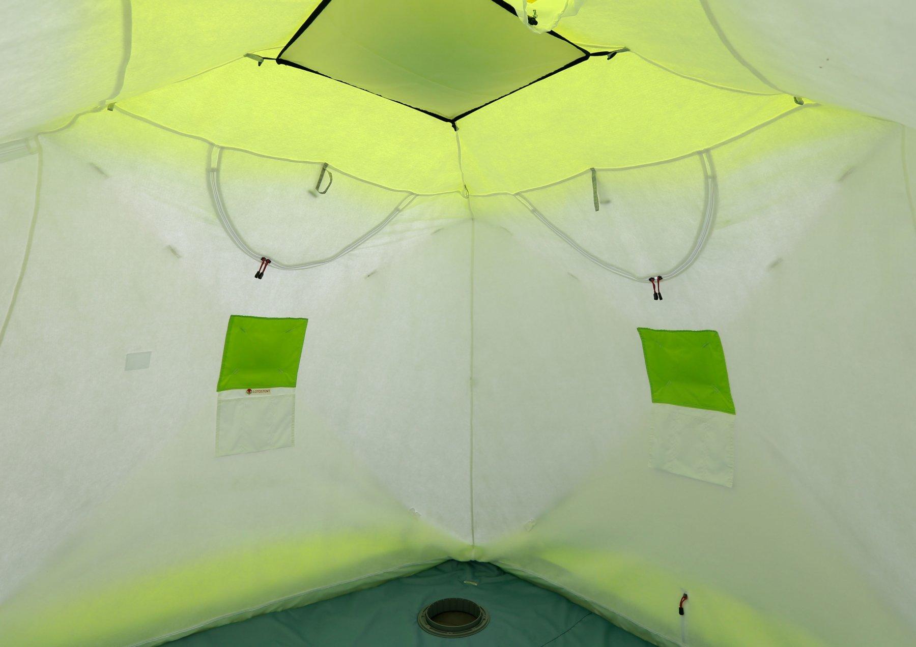 Зимняя палатка ЛОТОС Куб 3 Компакт ЭКО (утепленный внутренний тент)