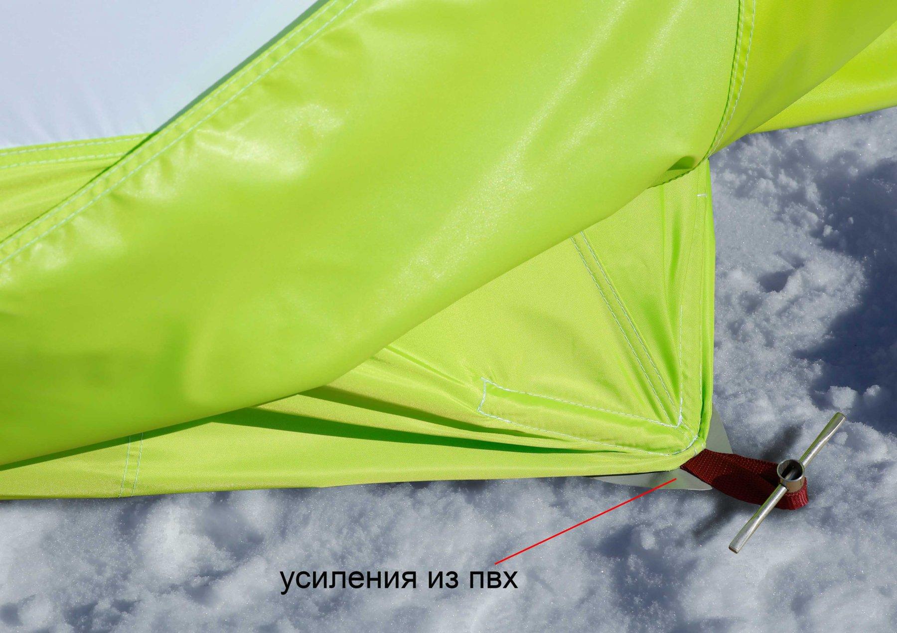 Зимняя палатка ЛОТОС Куб 4 Компакт (усиления из пвх)