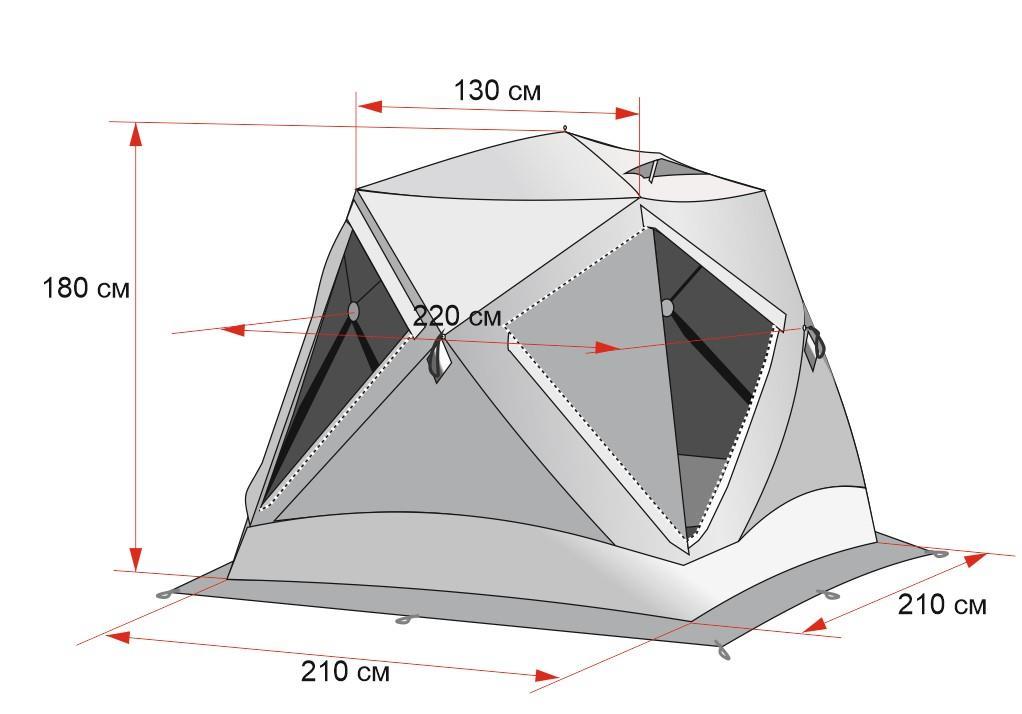 Палатка куб схема