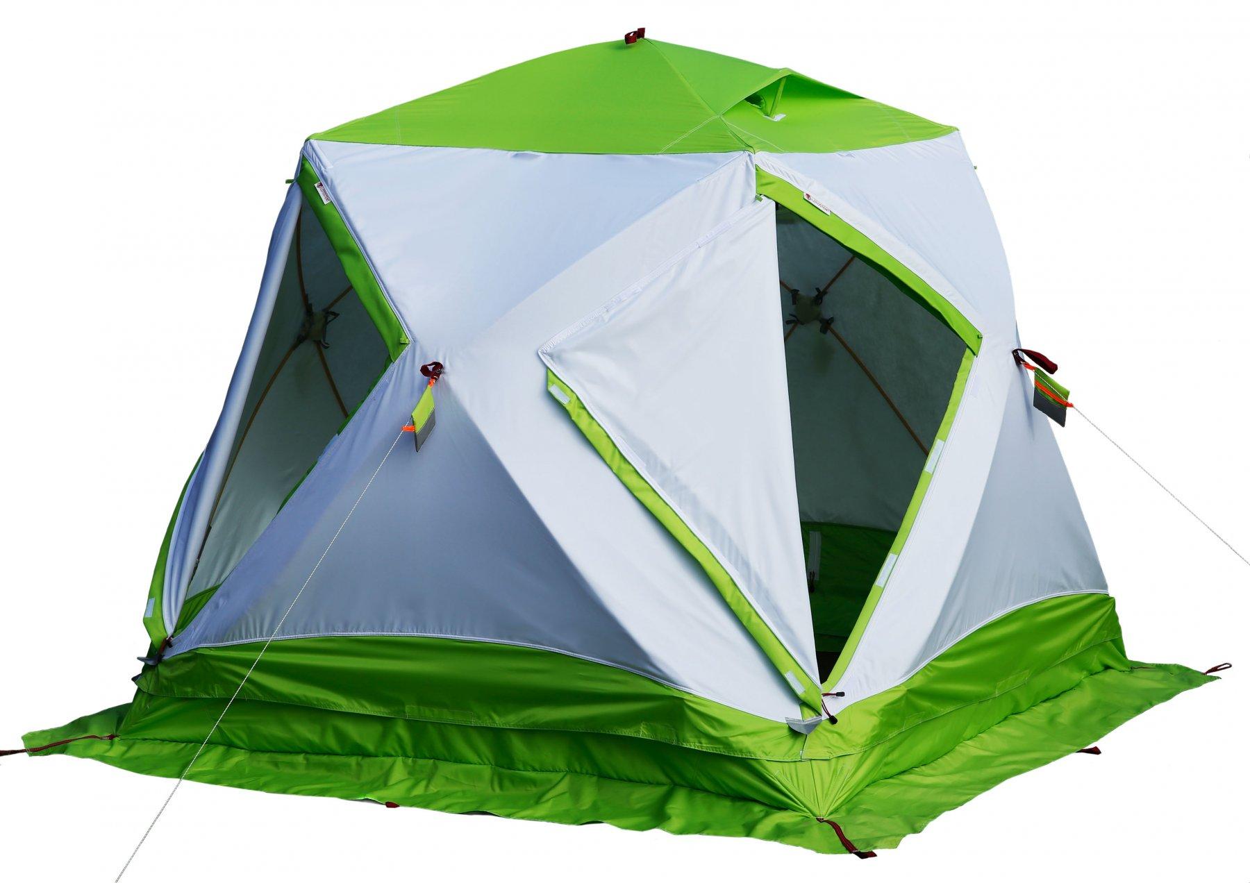 Утепленная палатка ЛОТОС Куб 3 Компакт Термо с системой компактного сложения