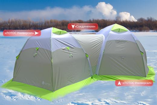 Соединение 2 палаток