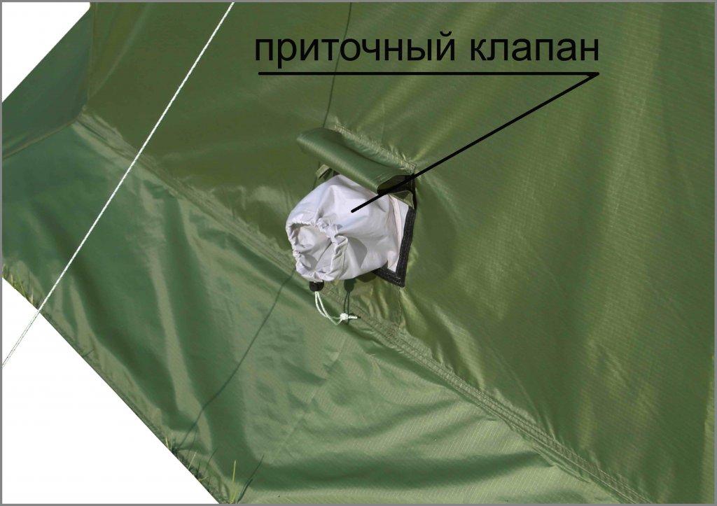приточный клапан на влагозащитном тенте ЛОТОС 5У-1