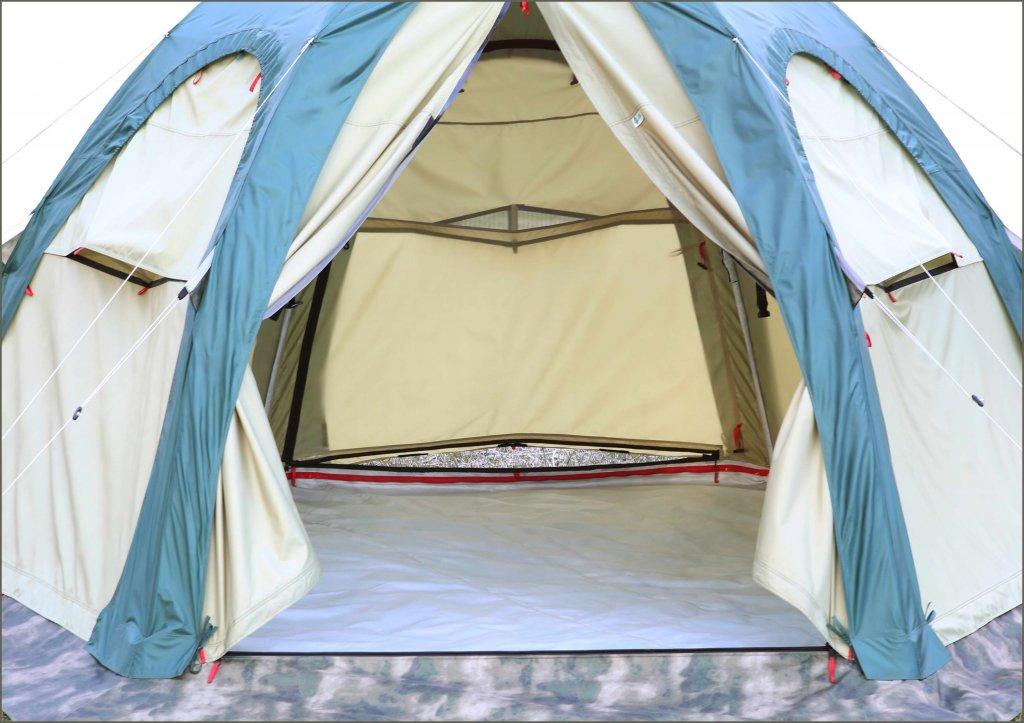 Универсальная модульная палатка ЛОТОС 5 Универсал (хаки)_вид изнутри