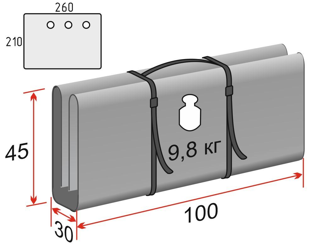 Схема Дно гидро-термоизоляционное ЛОТОС Куб 4 (260х210) с отверстиями под лунки
