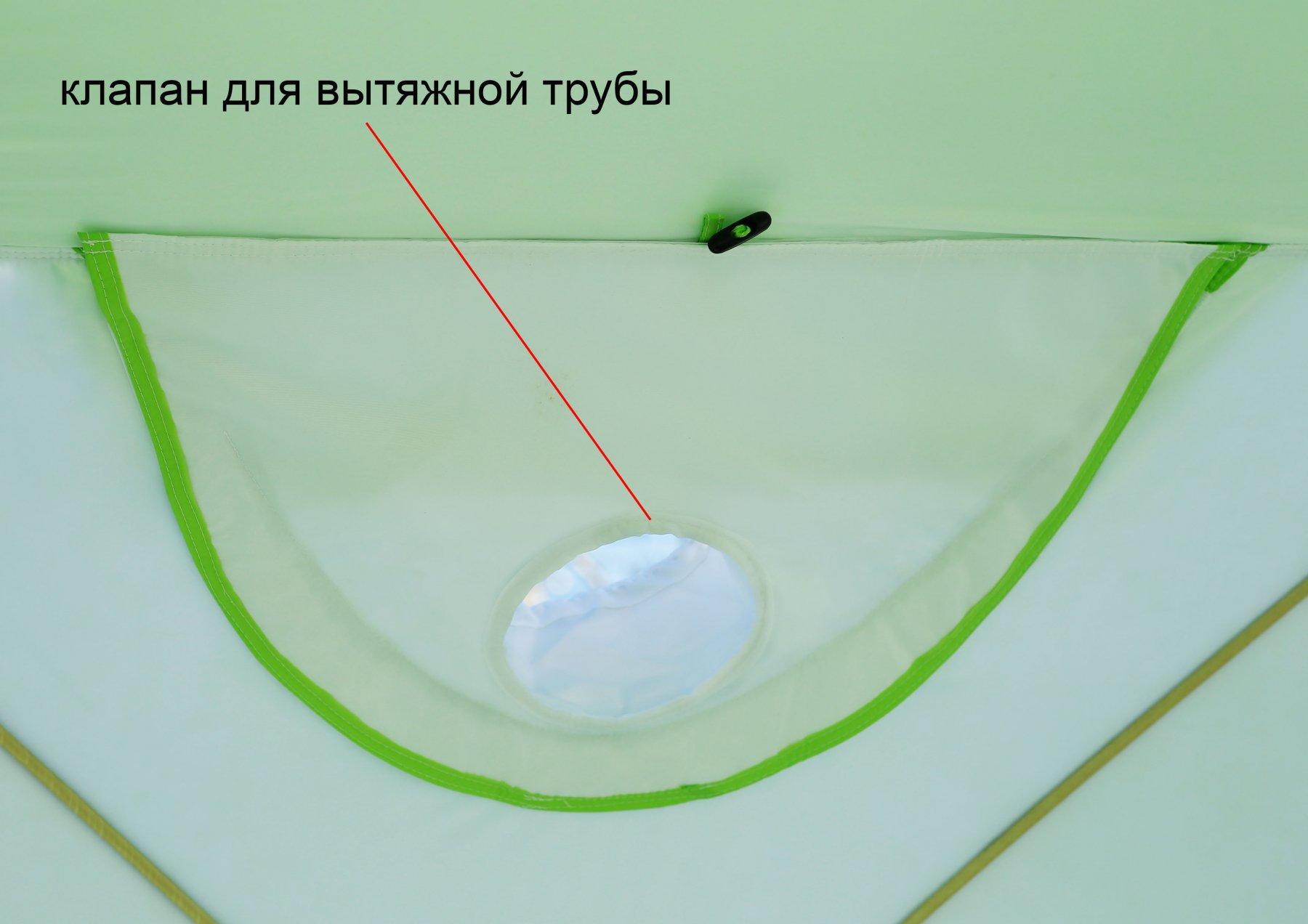 Утепленная палатка ЛОТОС Куб 3 Компакт Термо (клапан под вытяжную трубу)