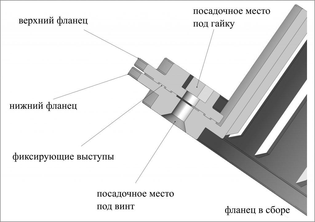 фланец для отверстия под лунку ЛОТОС 200 (схема в сборе)