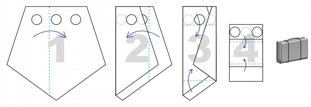 схема сложения на пол ЛОТОС 3 ПУ4000 с отверстиями под лунки