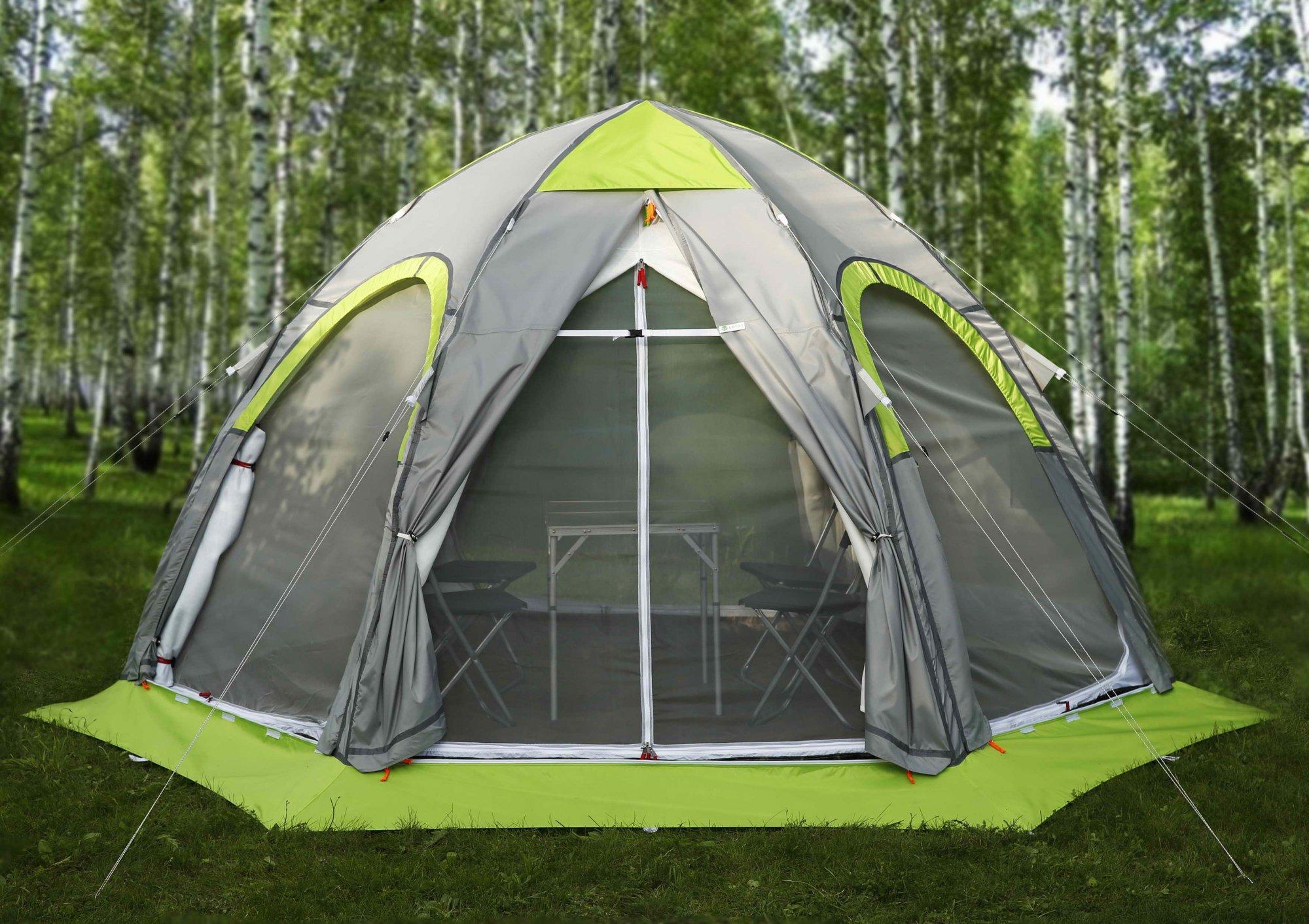 Палатка круглогодичная ЛОТОС 5 Универсал Спорт с теплым тентом-капсулой