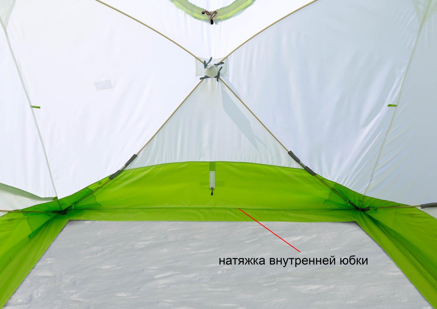 Зимняя палатка ЛОТОС Куб 4 Компакт (внутренняя юбка)