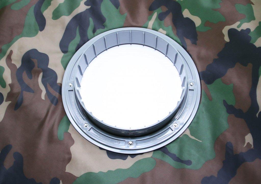 фланец для отверстия под лунку ЛОТОС 200 (вид сверху)