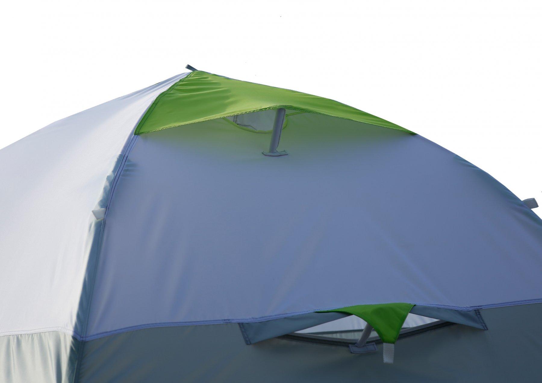 Полуавтоматическая зимняя палатка ЛОТОС 3 (вытяжной клапан)