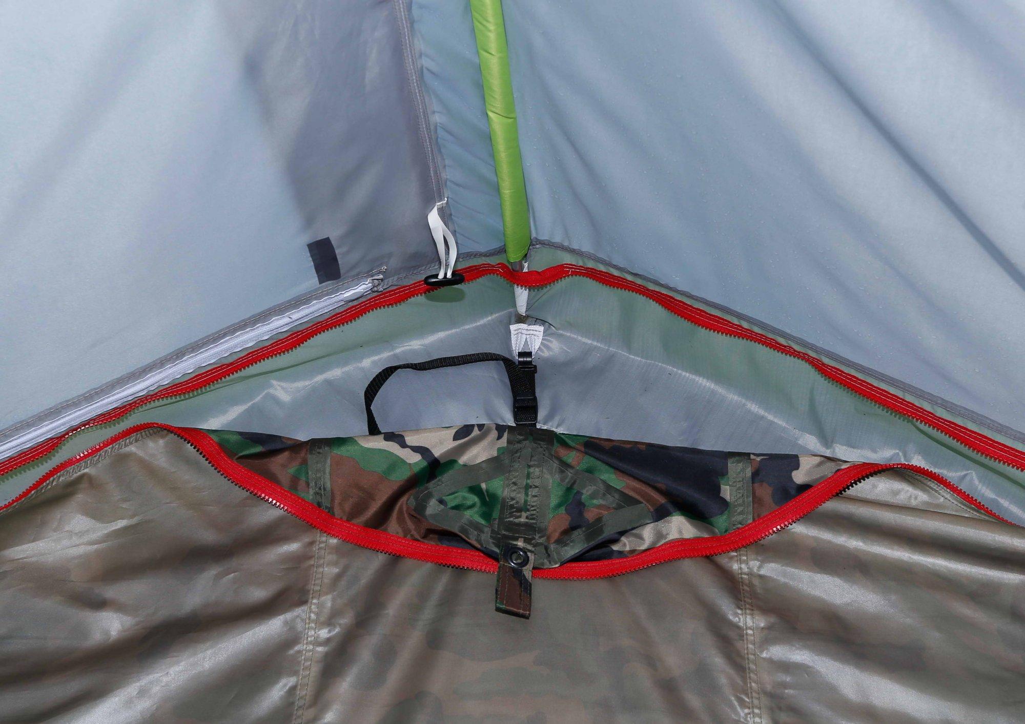 Пол влагозащитный ЛОТОС 5У (ПУ4000)_система крепления и натяжки на палатке