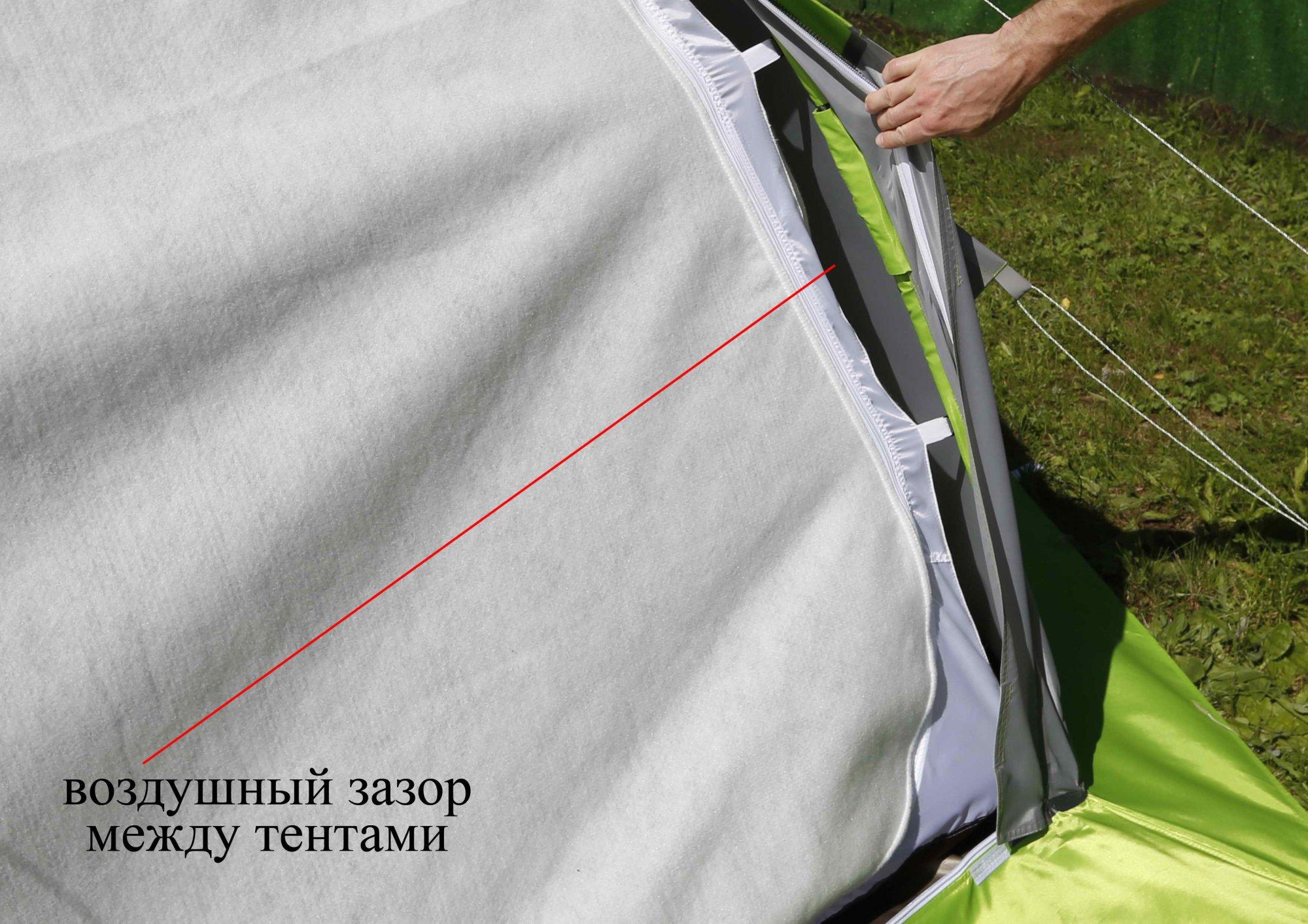 Внутренний тент-капсула на палатке ЛОТОС 5 Универсал