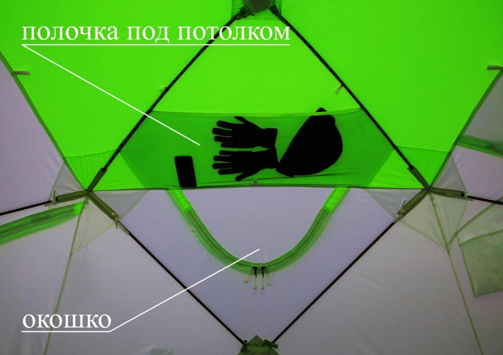 зимняя палатка ЛОТОС Куб Классик (вид изнутри)