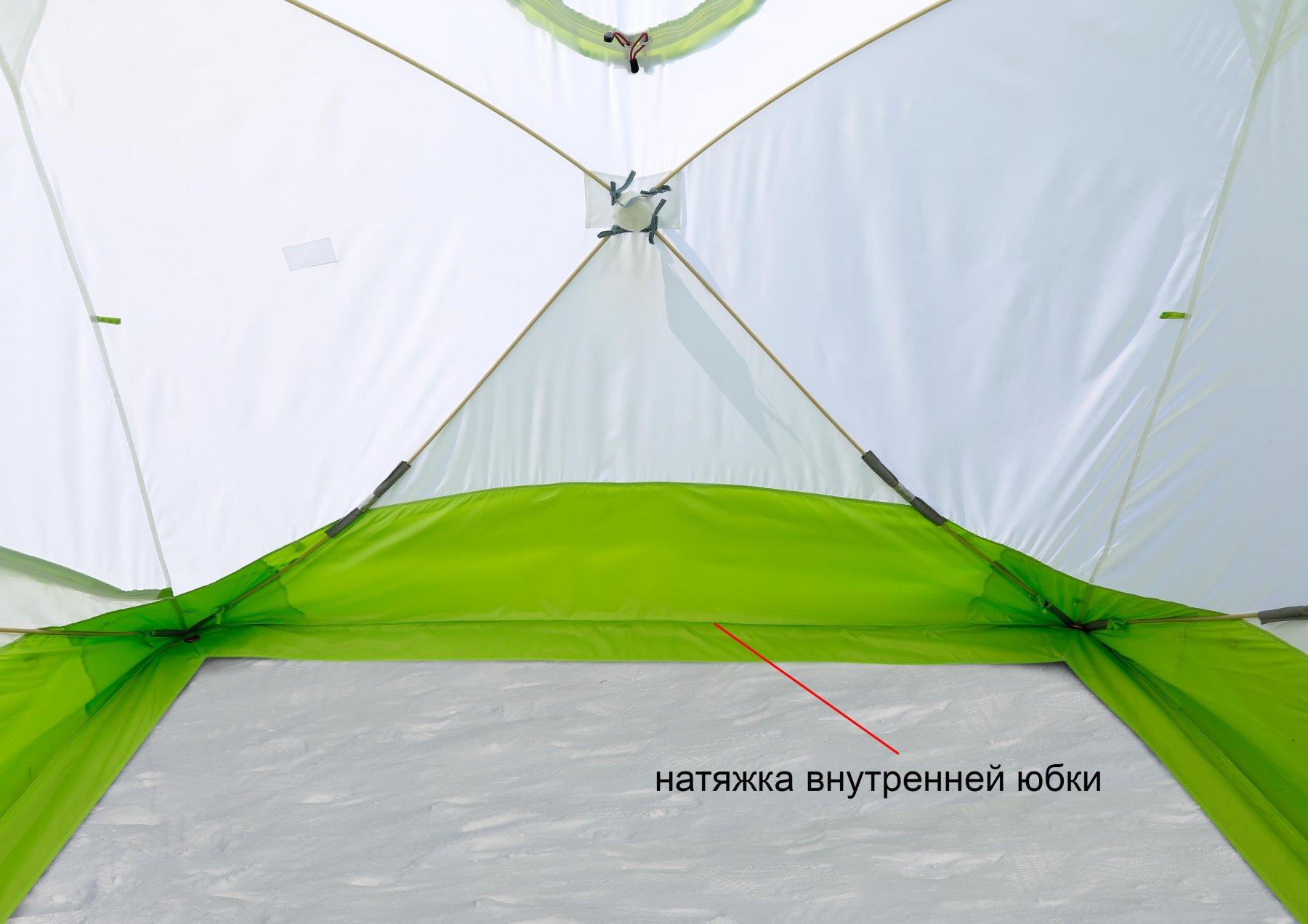 Зимняя палатка Лотос Куб 3 ЭКО (внутренняя юбка)