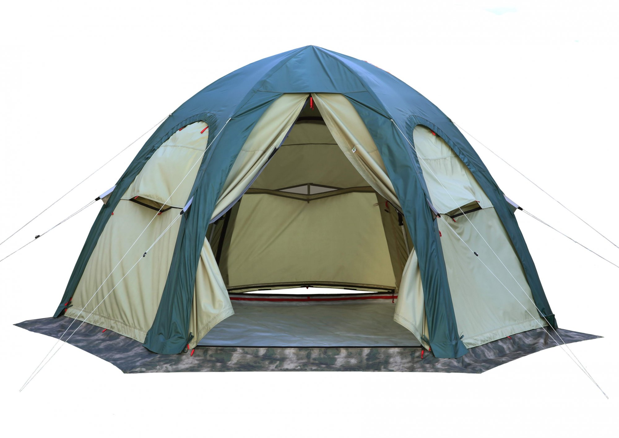 Кемпинговая летняя палатка ЛОТОС 5 Универсал (хаки)