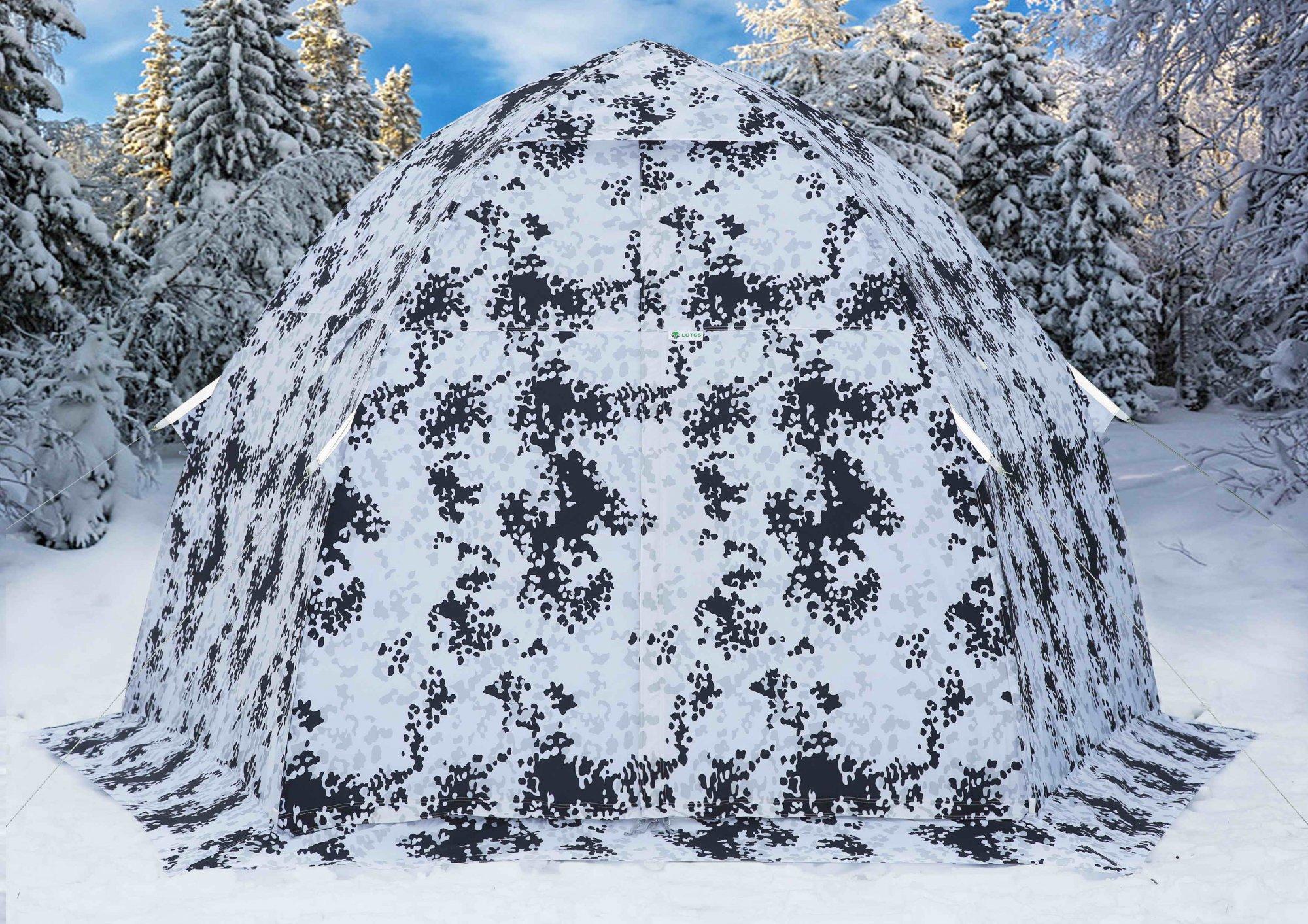 Зимняя палатка ЛОТОС 3 зимний камуфляж