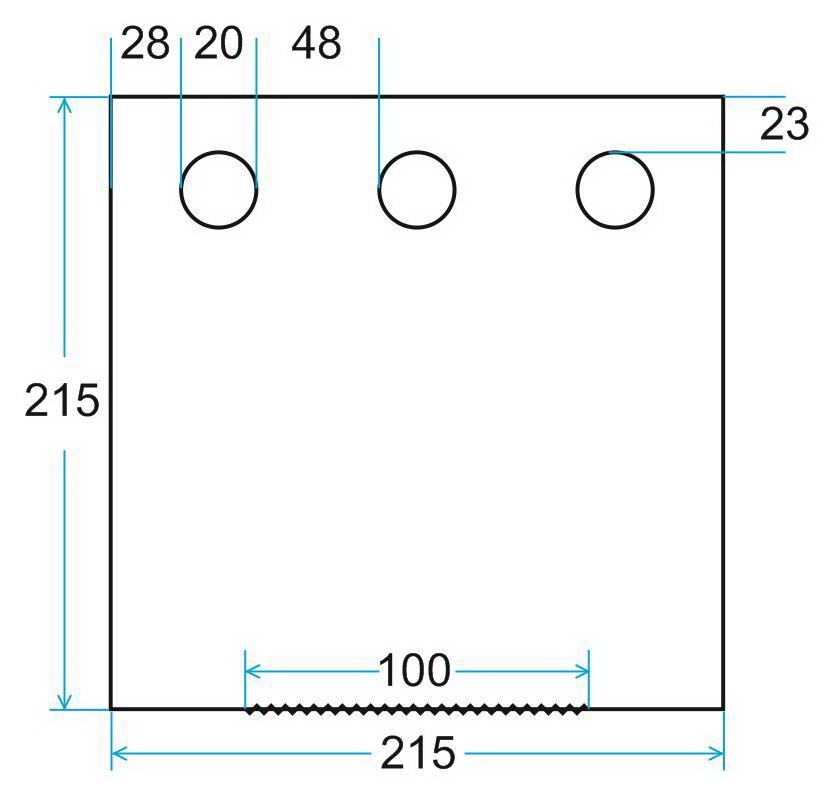схема на пол Лотос Куб 201х210 ПУ4000 с отверстиями под лунки