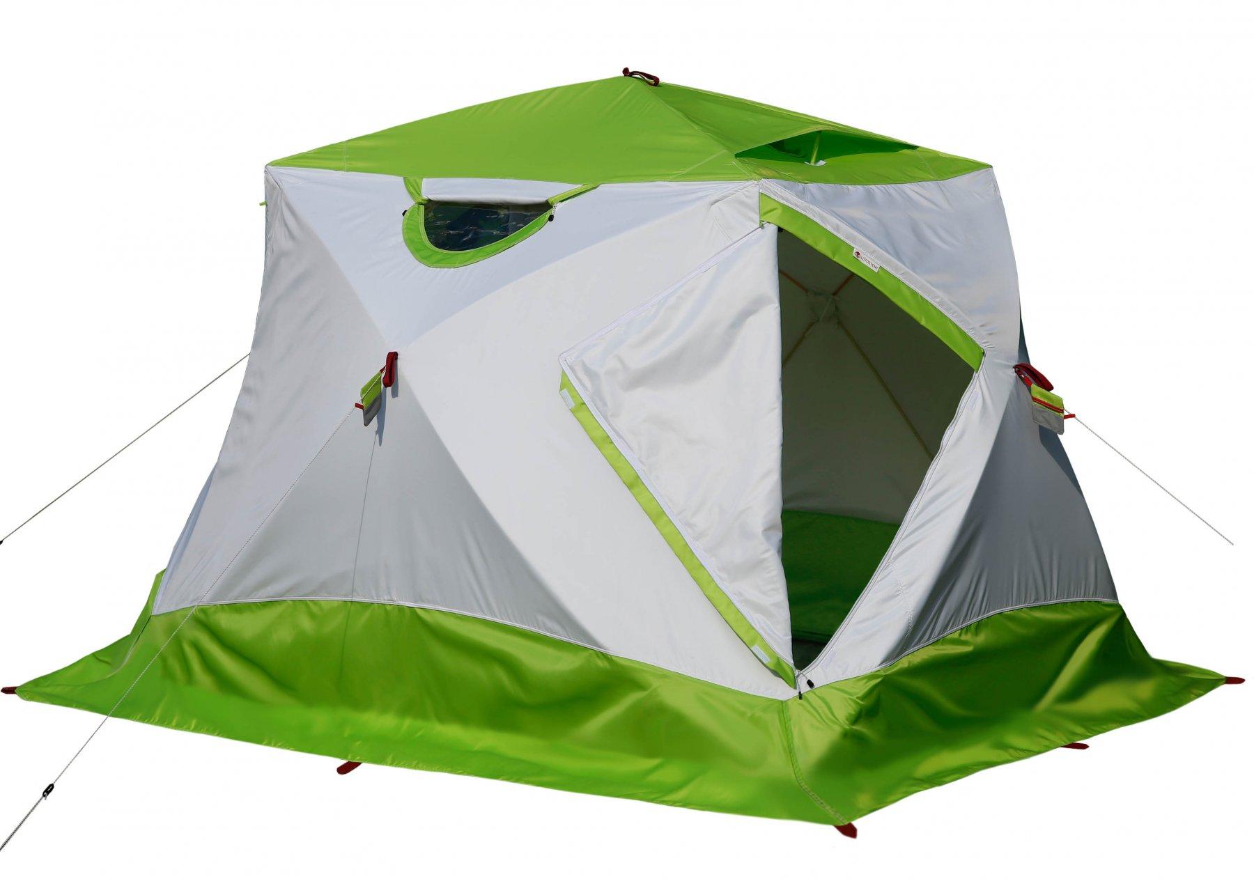 Зимняя палатка ЛОТОС Куб 4 Компакт (лонг) с системой компактного складывания