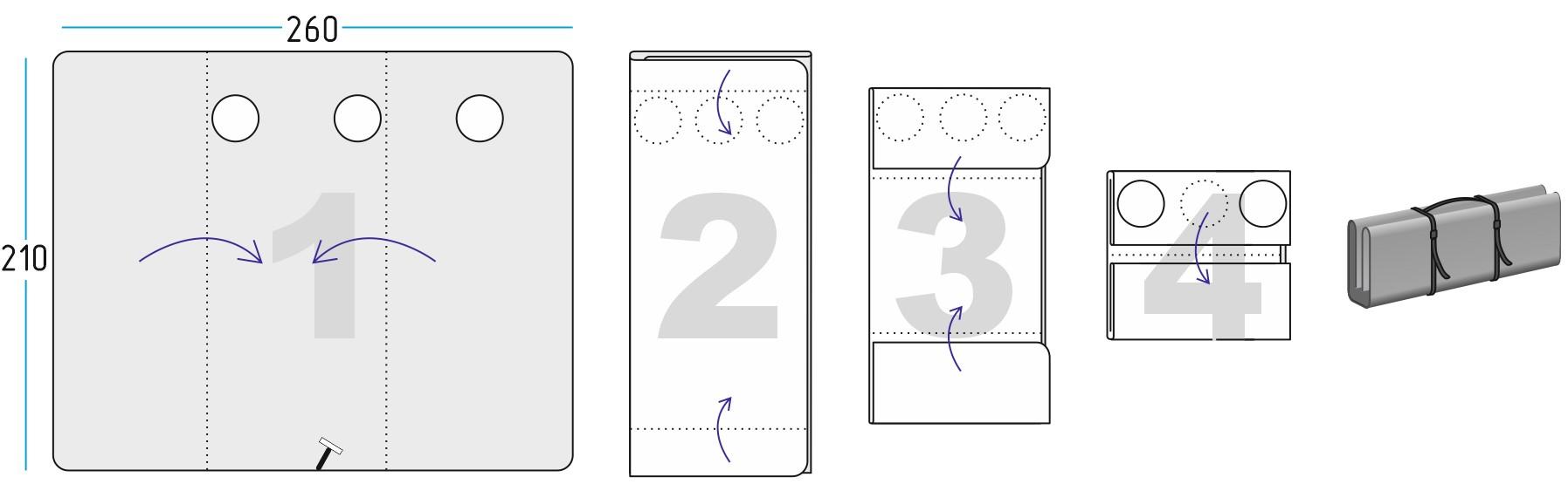 Схема сложения Дно гидро-термоизоляционное ЛОТОС Куб 4 (260х210)