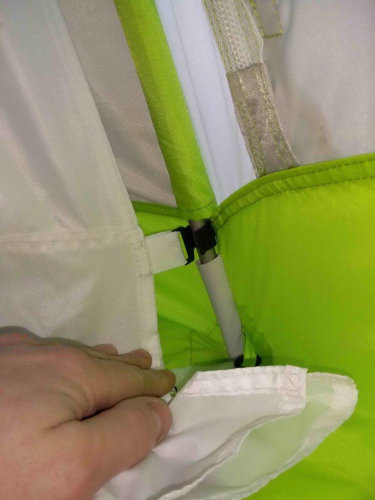 Нижние крючки внутреннего банного тента
