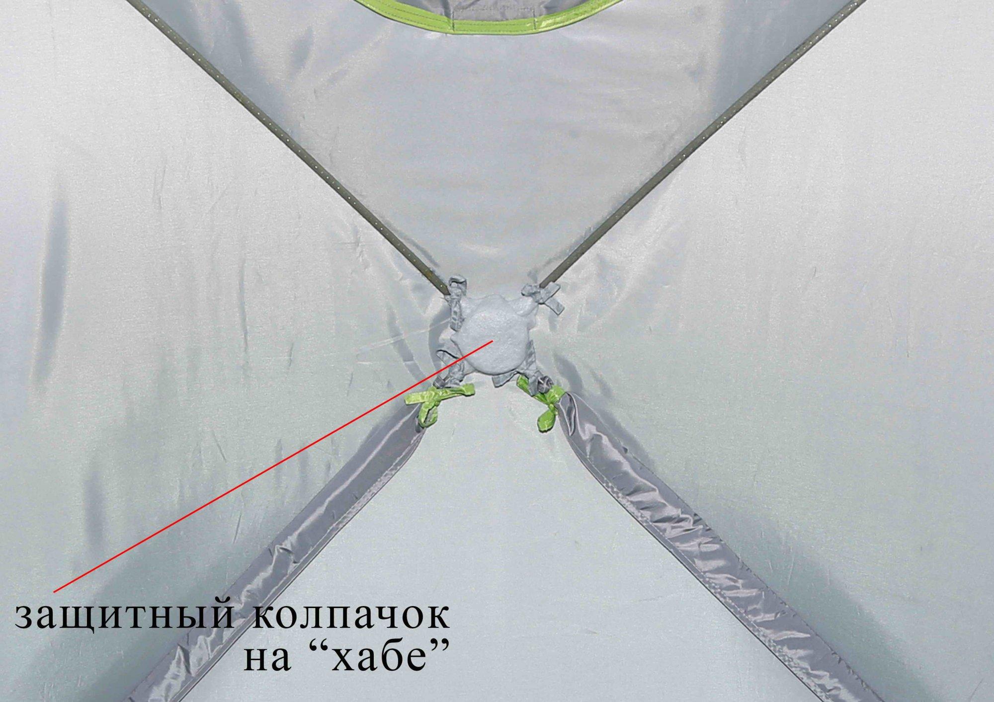 Зимняя палатка ЛОТОС Куб М2 Термо_колпачки на хабах