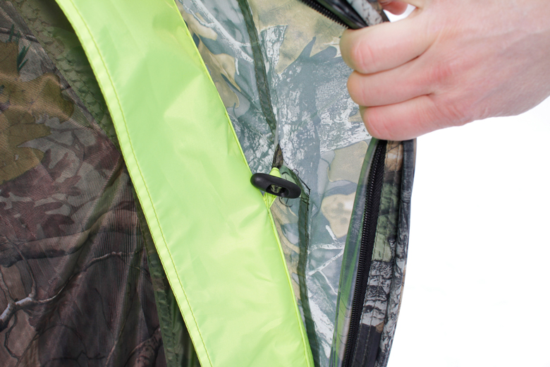 Палатка «Лотос Пикник» Крепление тента на клеванте.