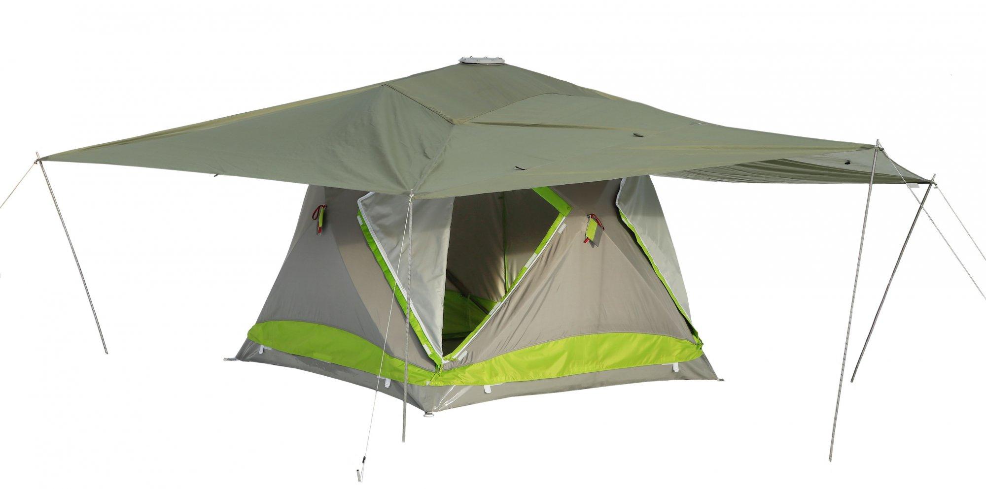 Защитный тент-навес для утепленной палатки ЛОТОС Куб 210х210