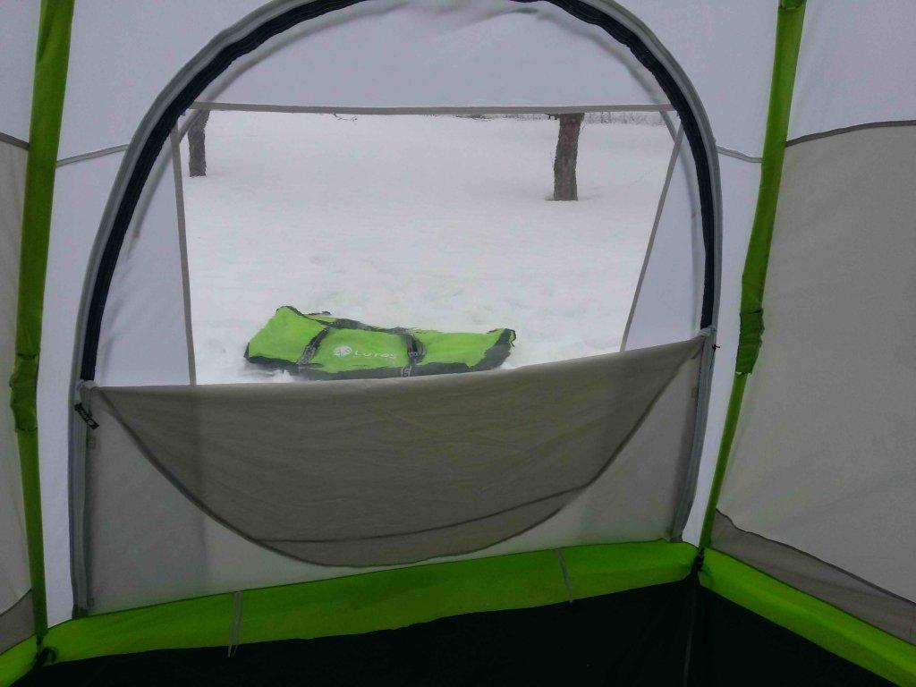 "Стенка прозрачная ""ЛОТОС"" вид изнутри палатки"