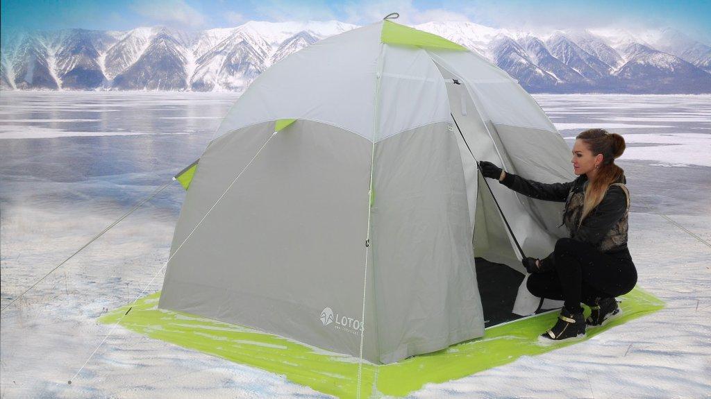 утепленная палатка ЛОТОС 3 универсал Т