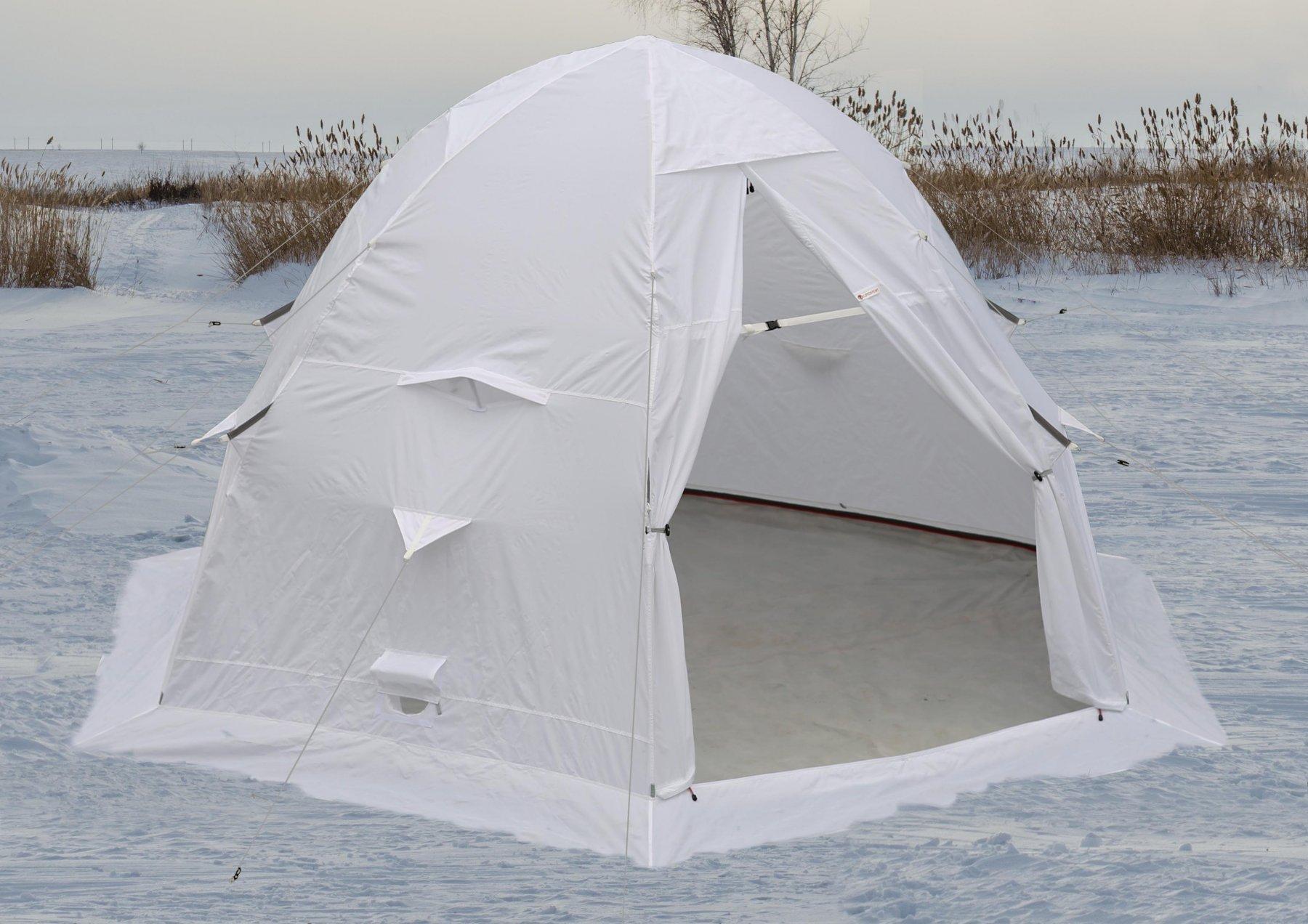 Зимняя защитная палатка для охотника ЛОТОС 5С (белая)