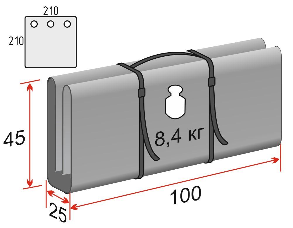 Схема Дно гидро-термоизоляционное ЛОТОС Куб 3 (210х210) с отверстиями под лунки