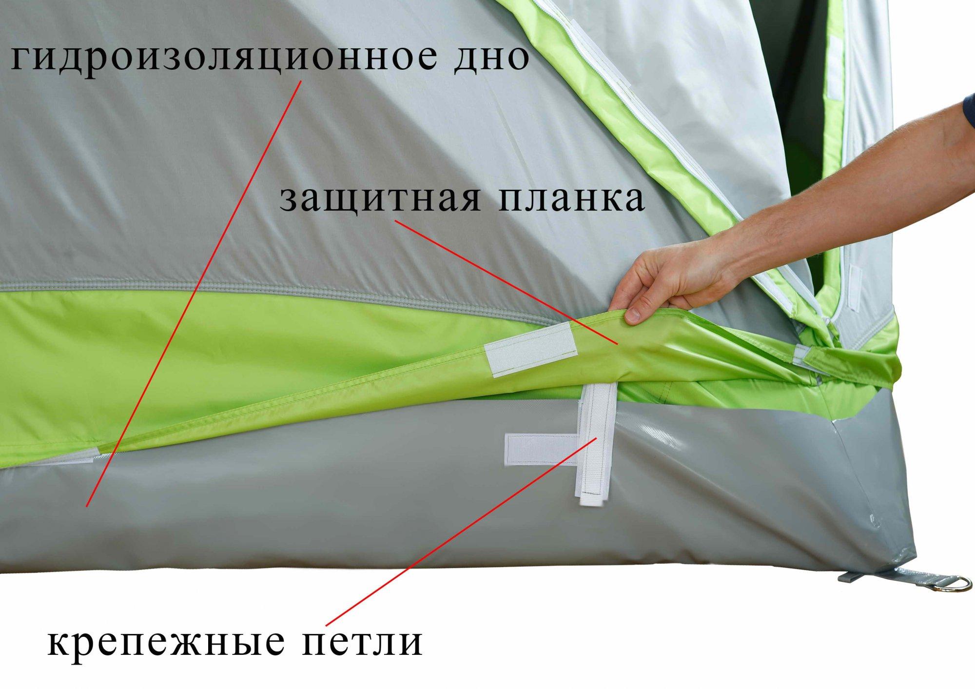 Зимняя палатка ЛОТОС Куб М2 Термо_крепления на гидроизоляционное дно