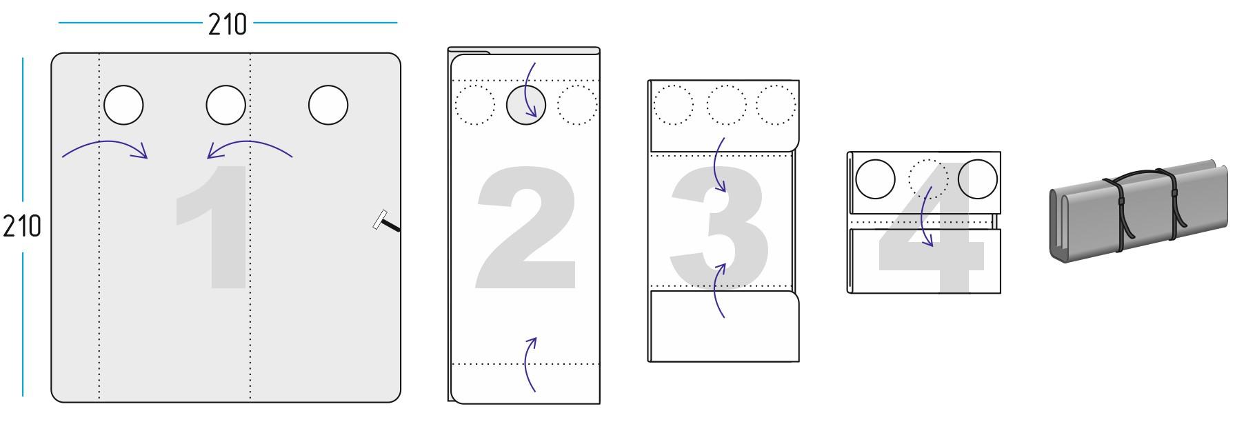 Схема сложения Дно гидро-термоизоляционное ЛОТОС Куб 3 (210х210)